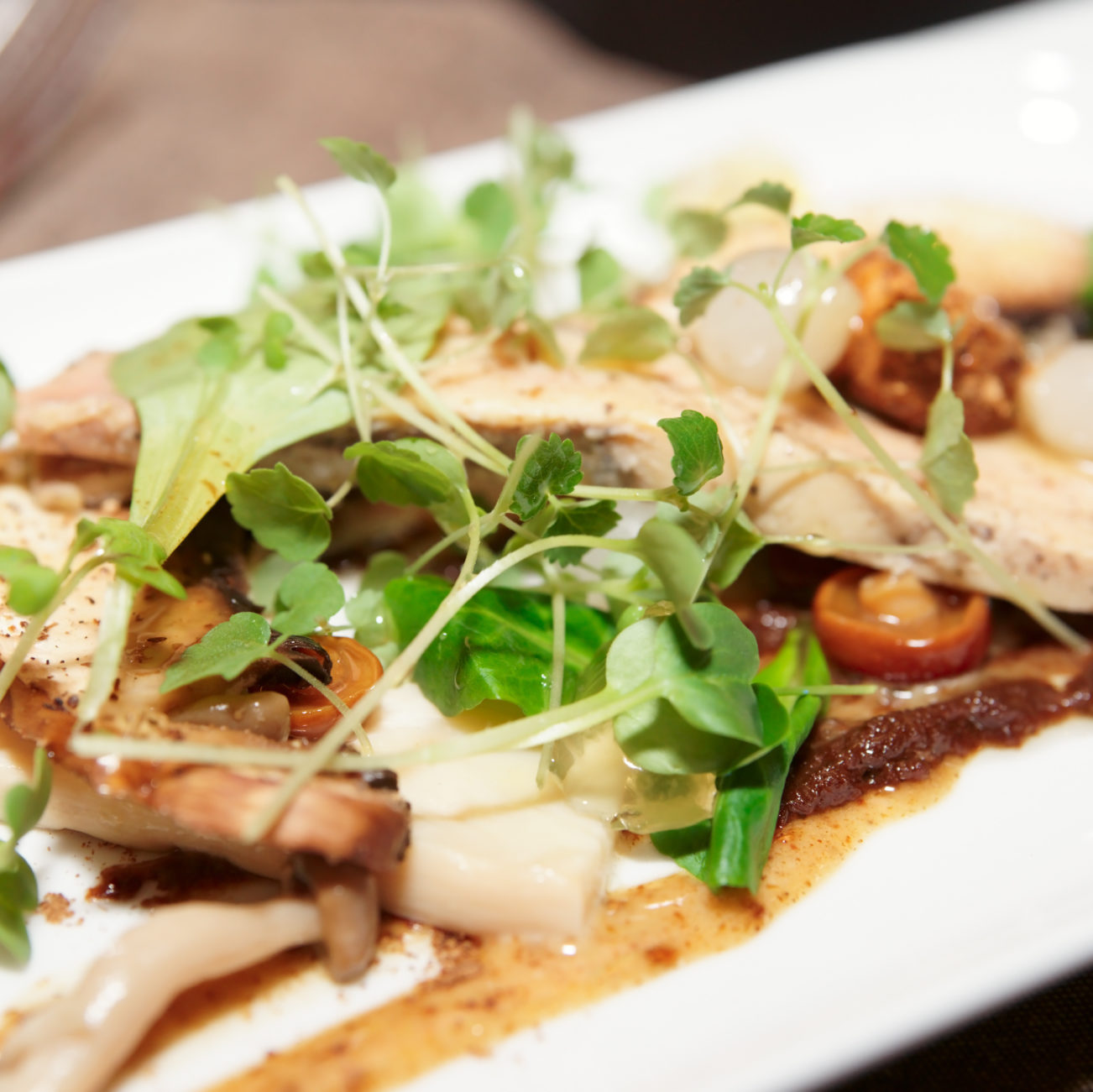 Sauteed Shiitake Mushrooms with Ginger and Watercress