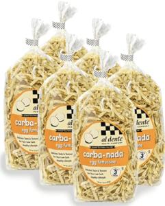 Boxes of Al Dente Carba Nada Egg Fetuccine