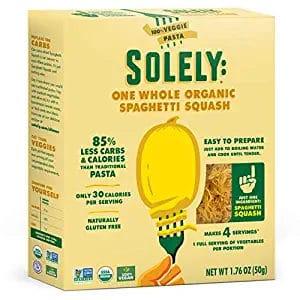 One box of Solely One Whole Organic Spaghetti Squash Pasta