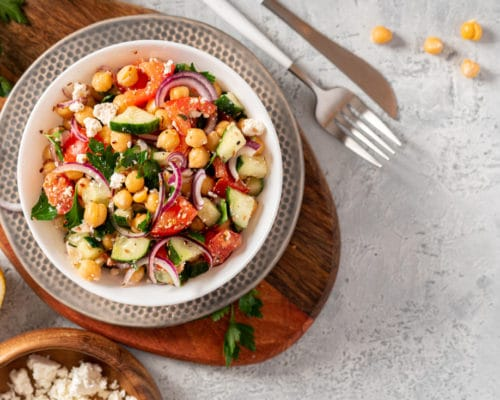 Greek Bean and Feta Summer Salad