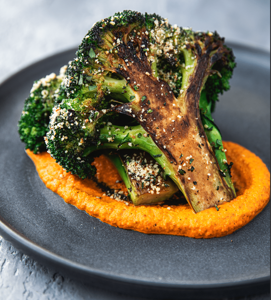 Tom Brady's TB12 Caramelized Broccoli with Smoky Romesco Sauce